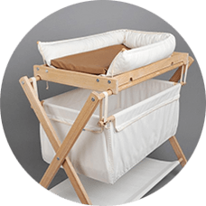 Cradle with changing table